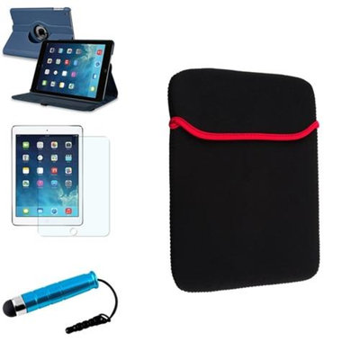 Insten INSTEN Navy Blue 360 Rotating Leather Case Cover+Stylus/Protector For Apple iPad Air 5 5th