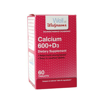Walgreens Calcium 600mg+D3 Tablets