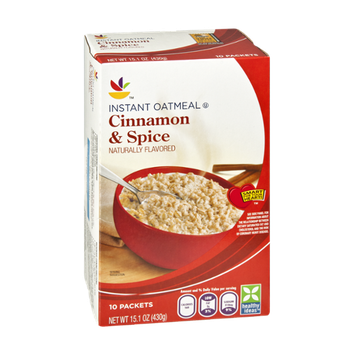 Ahold Cinnamon & Spice Instant Oatmeal - 10 CT