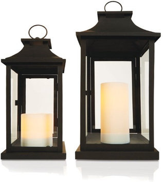 Paradise Flameless Candle Lanterns Nested Set 2/Set(GL29117MB)