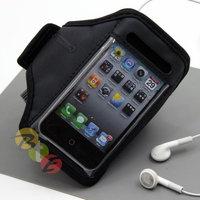 Apple iPhone 4 Adjustable Wrist / Armband Sports Case Cover - Black