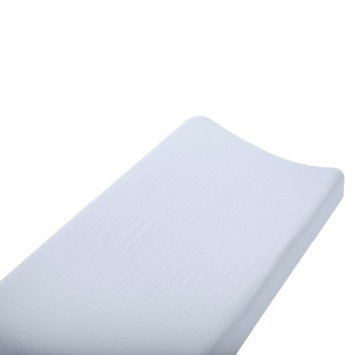 aden + anais Aden & Anais solid blue changing pad cover