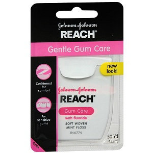 REACH® Gentle Gum Care with Fluoride Woven Mint Floss