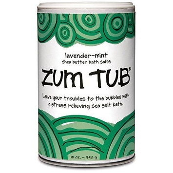 Indigo Wild Zum Tub Bath Salts, Lavender-Mint, 12 Ounce