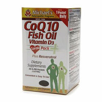 Michael's Naturopathic Programs Cardio Pack+ CoQ10 Fish Oil Vitamin D3 plus Resveratrol