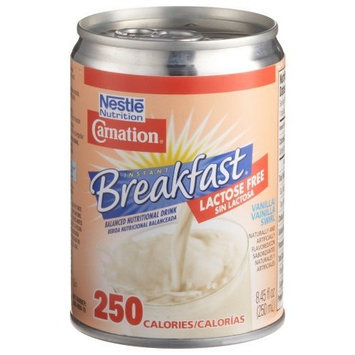 Carnation Instant Breafast, Lactose Free, Vanilla Swirl, 8.45-Ounce Cans (Pack of 24)