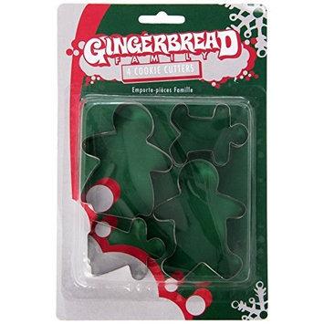 Fox Run Gingerbread Family Cookie Cutter Set [1, Silver]