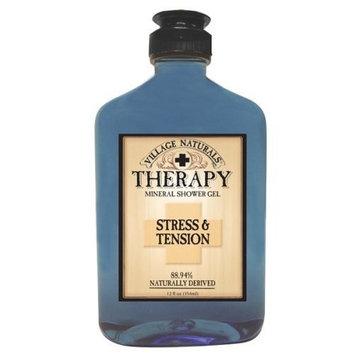 Village Naturals Therapy Stress & Tension Mineral Shower Gel 12.6 fl oz