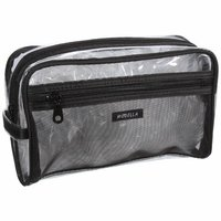 Modella Transparent/Black Make Up Bag