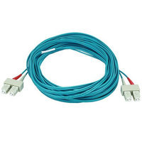 Monoprice 10Gb Fiber Optic Cable, SC/SC, Multi Mode, Duplex - 10 Meter (50/125 Type) - Aqua