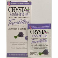 Crystal Essence Mineral Deodorant Towelettes Lavender and White Tea 24 Towelettes