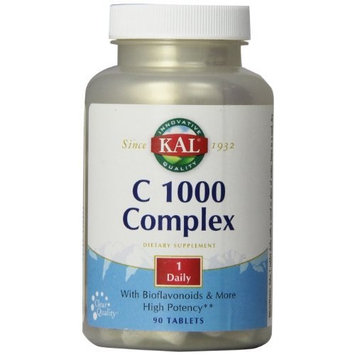 KAL Vitamin C Complex Tablets, 1000 mg, 90 Count