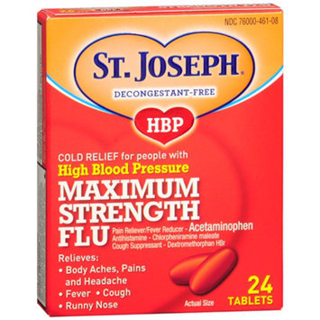 St. Joseph High Blood Pressure Maximum Strength Flu Tablets