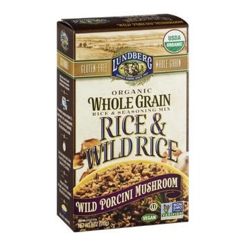 Lundberg Whole Grain Rice & Wild Rice Wild Porcini Mushroom