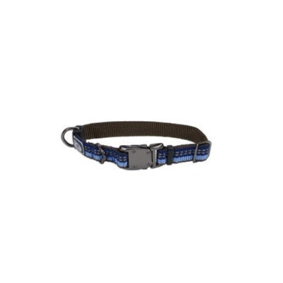 Coastal Pet Products CO36425 12 in. Reflective Adjustable Collar - Sapphire Blue