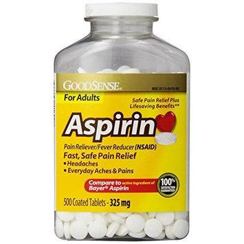 Good Sense GoodSense Coated Aspirin Pain Reliever Tablets, 325 mg, 500 Count