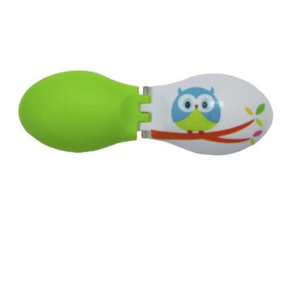 up & up up&up Top Fashion Green Owl Print Contact Lens Case