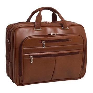 McKlein USA Ladies Laptop Case in Leather w Laptop Sleeve (Black)