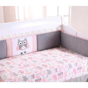 Levtex Baby Night Owl 4 Piece Crib Bumper Set - Pink