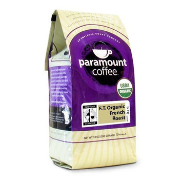 Paramount Coffee, Fair Trade Organic French Roast, Ground Coffee, 10-Ounce Bags (Pack of 3)