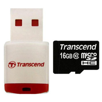 Transcend 16GB microSDHC Class 10 Card with Card Reader