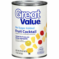 Great Value : No Sugar Added Fruit Cocktail
