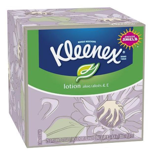 Kleenex Lotion Facial Tissue with  Aloe & Vitamin E