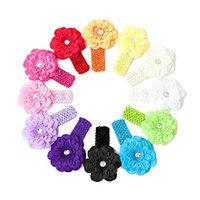 Ema Jane - Peony Flower Hair Clips with Crochet Headbands