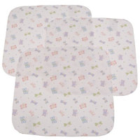 Carter's Carters Keep Me Dry Flannel Lap Pads, Butterfly, 3 Pack (Discontinued by Manufacturer)