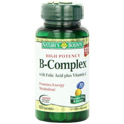 Nature's Bounty Vitamin B Complex, 100 Tablets (Pack of 4)