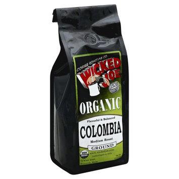 Wicked Joe Coffee 12 oz. Ground Flavorful & Balanced Colombia Coffee Medium Roast - Case Of 6