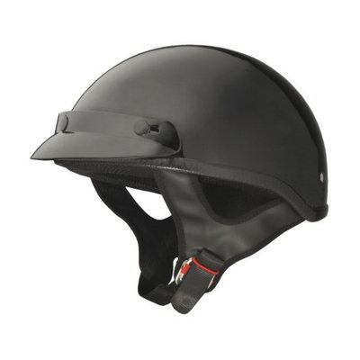 Fuel Trooper-Style Half Helmet Gloss Black Small