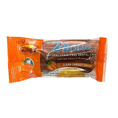 Zuke's Z-Bones Edible Grain-Free Dental Chews, Clean Carrot Crisp, Regular 1.5-Ounce, Individually Wrapped Bone