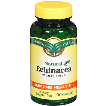 Spring Valley Echinacea Purpurea 100 Count  Natural Echinacea Whole Herb Immune Health Dietary Supplement 100