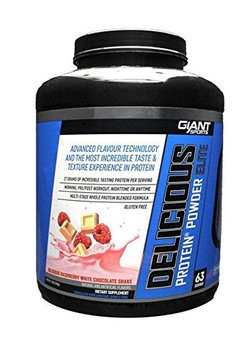 Giant Sports Delicious Protein Elite, Raspberry White Chocolate, 5 Pounds