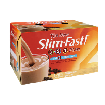 Slim Fast! 3-2-1 Plan Cappuccino Delight Shakes - 6 CT