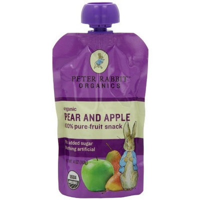 PETER RABBIT ORGANICS 100% Fruit Snack, Pear and Apple, 4.0-Ounce (Pack of 10)