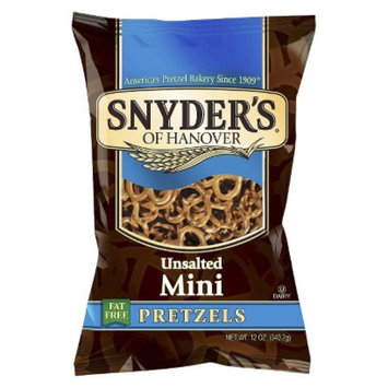 Snyders Snyder's of Hanover Fat Free Pretzels Unsalted Mini - 12 oz