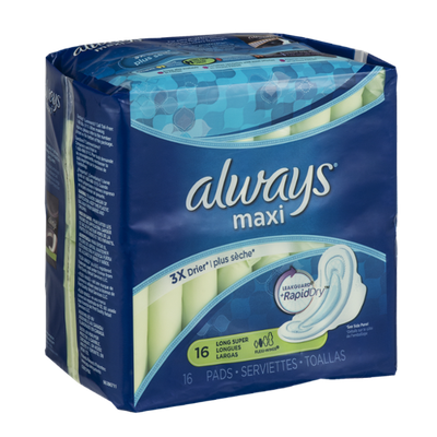 Always Maxi Pads Long Super