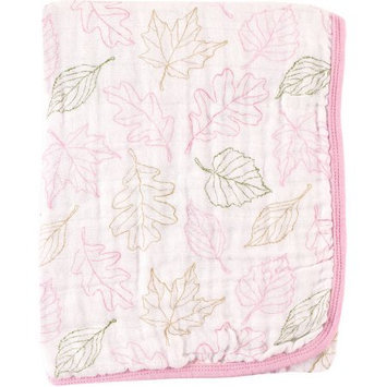 Baby Vision Touched By Nature Organic Muslin Stroller Blanket - Girl Leaves