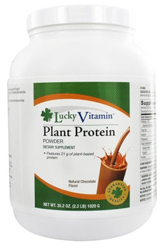 LuckyVitamin - Plant Protein Powder Natural Chocolate Flavor - 2.2 lbs.