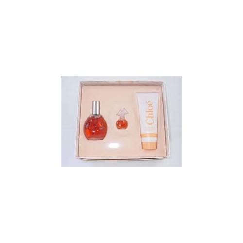 CHLOE for Women 3 Piece Set: 1.7 oz Eau de Toilette Spray + 0.12 oz Parfum Miniature + 3.3 oz Body Lotion by Karl Lagerfeld