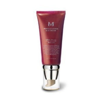 Missha M Perfect Cover No.23 SPF 42/PA+++ BB Cream, Natural Beige, 1.7 Ounce [No.23/Natural Beige]