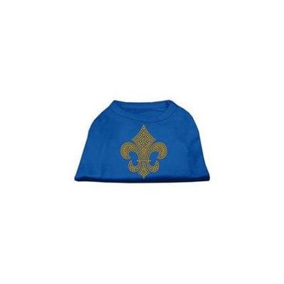 Ahi Gold Fleur de Lis Rhinestone Shirts Blue Med (12)