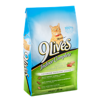 9 Lives Indoor Complete Cat Food Salmon and Chicken Flavors