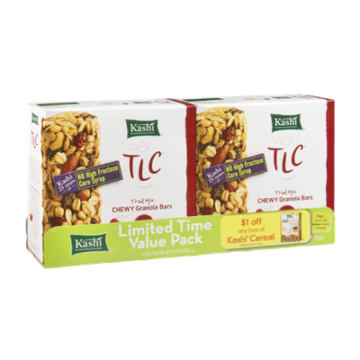 Kashi TLC Trail Mix Chewy Granola Bars - 2 PK