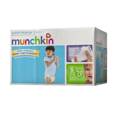 Munchkin Super Premium Diapers Box Pack - Size 5 (70 Count)