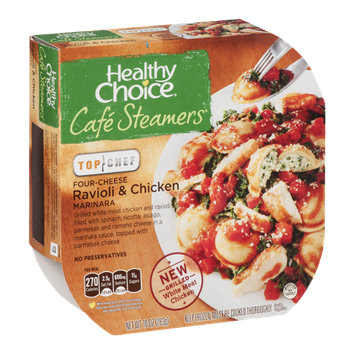 Healthy Choice Cafe Steamers Top Chef Four-Cheese Ravioli & Chicken Marinara