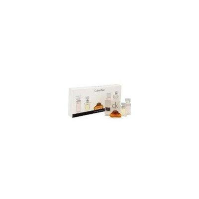 Calvin Klein by Calvin Klein for Women - 5 pc Mini Gift Set 0.13 oz Eternity Parfum, 0.12 oz Obsession Parfum, 0.5 oz C.K One EDT, 0.13oz Truth Parfum, 0.15o