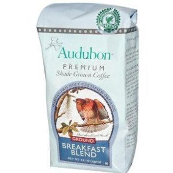 Audubon Premium Coffee, Breakfast Blend, Ground, 12.00 OZ (Pack of 6)